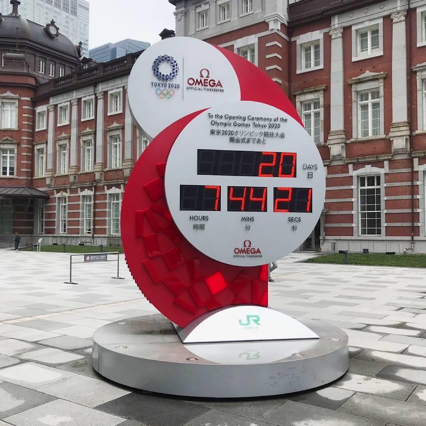東京駅 オリンピックカウントダウン時計